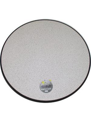 Tischplatte Sevelit im Dekor Granit hell mit schwarzer Kante