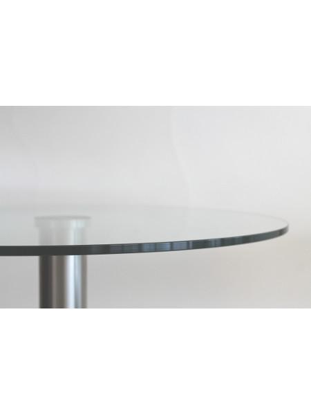 Detail Stehtisch Tiffany: Tischplatte in 10 mm Staerke und 70 cm Durchmesser