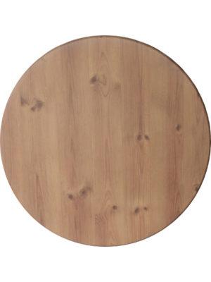 Tischplatte Topalit Classic in 80 cm Durchmesser im wunderschönen Piniendekor mit seinen Maserungen und Astlöchern