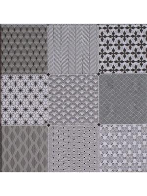 Eckige Tischplatte 70x70 im Dekor Graphic CIMENT BLANC.