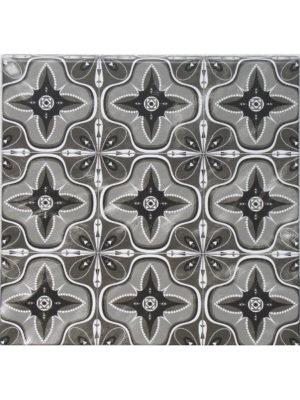 Eckige Tischplatte in 70 x 70 cm im orientalischen Dekor FAIENCE NOIRE