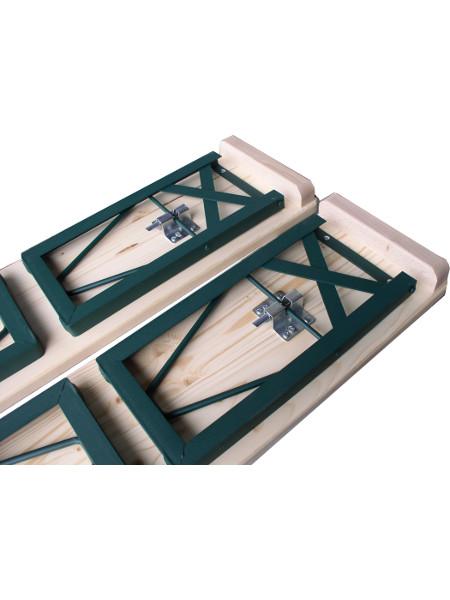 Detail: Sitzbaenke Klappgarnitur TOM in nur 109 cm Länge