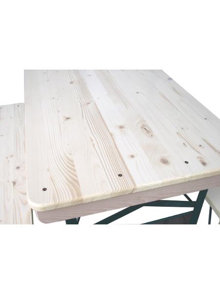Tischkante Klappgarnitur TOM in nur 109 cm Länge. Tischbreiten von 50, 60, oder 70 cm möglich!